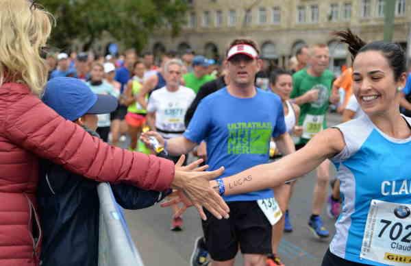 Läuferin Hamburg Marathon