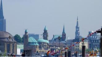 Traditionsschiffhafen am Hamburger Hafen
