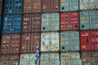 Containerhafen und Containerterminal